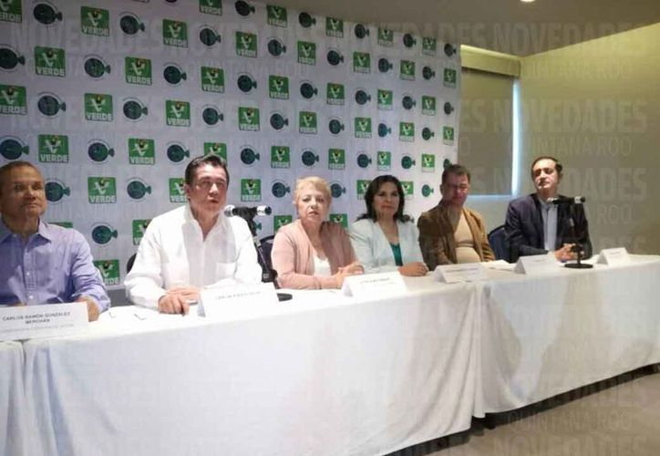 Los integrantes del Partido Verde Ecologista de México realizaron el sexto y último debate. (Verónica Fajardo/SIPSE)