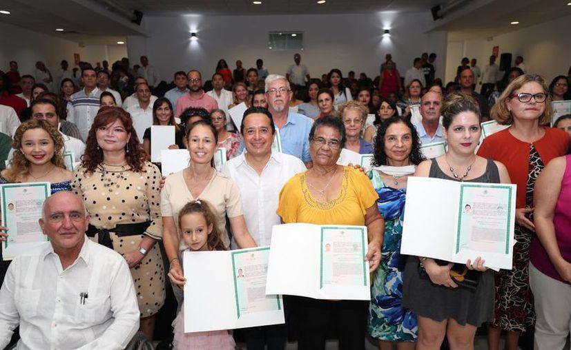 La ceremonia fue en el auditorio de la Universidad del Caribe. (Redacción)