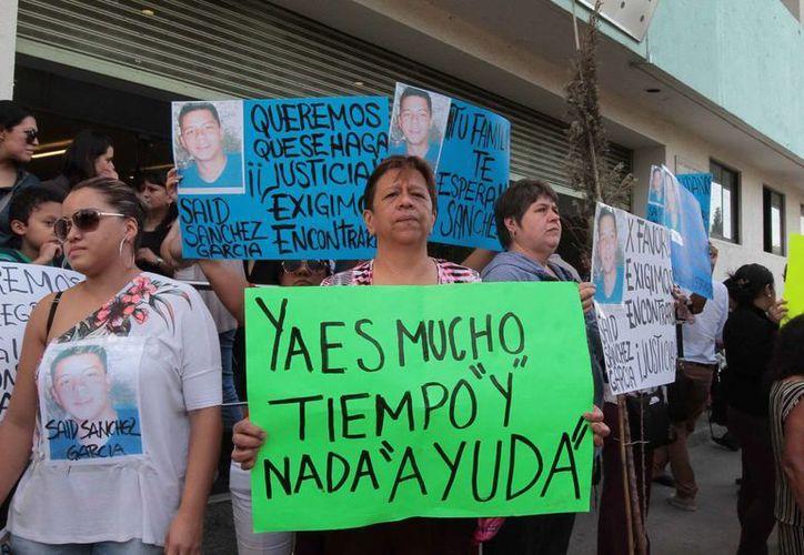 Los familiares de los desaparecidos han presionado a las autoridades. (Archivo/NTX)