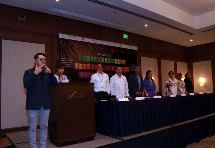 La inauguración de un diplomado sobre herramientas pedagógicas para la enseñanza en lengua indígena. (Jorge Acosta/Milenio Novedades)