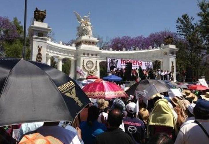 En el Hemiciclo a Juárez, Martí Batres expuso una propuesta de 15 puntos sobre la reforma energética. (Milenio)
