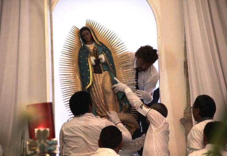 La imagen de la Virgen de Guadalupe ha tenido diversas apariciones en Yucatán. (Archivo/Sipse)