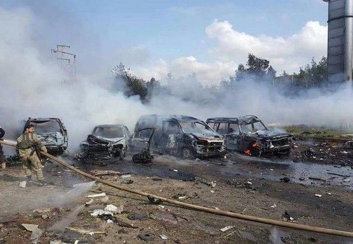 La evacuación de los residentes de las localidades chiíes de Fua y Kefraya se realiza de acuerdo con un acuerdo local entre la oposición armada y las tropas gubernamentales. (RT)