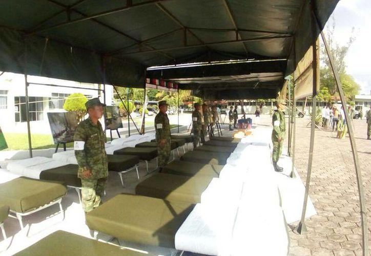 El Ejército cuenta con un equipo para atención pre-hospitalaria. (Eric Galindo/SIPSE)