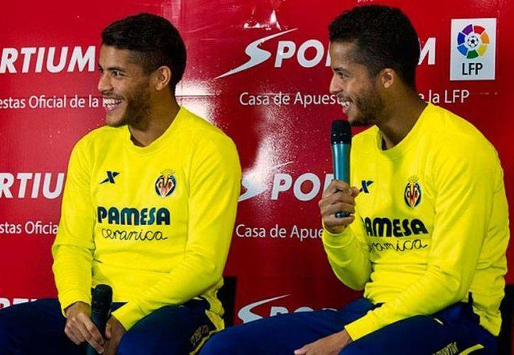 Gio y Jona, del club Villarreal, quieren ser 'hermanos incómodos' para su exclub Barcelona. (villarrealcf.es)