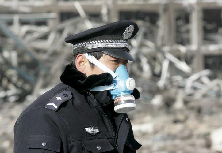 Un policía inspecciona los restos de un incendio. (Archivo/EFE)
