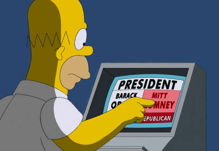 El senador Ted Cruz afirma que Homero y Marge votarían por su partido. (Redacción/SIPSE)