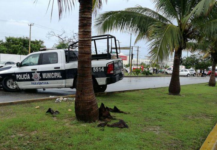 El choque se registró en el cruce de las avenidas Andrés Quintana Roo y Tikal. (Eric Galindo/SIPSE)