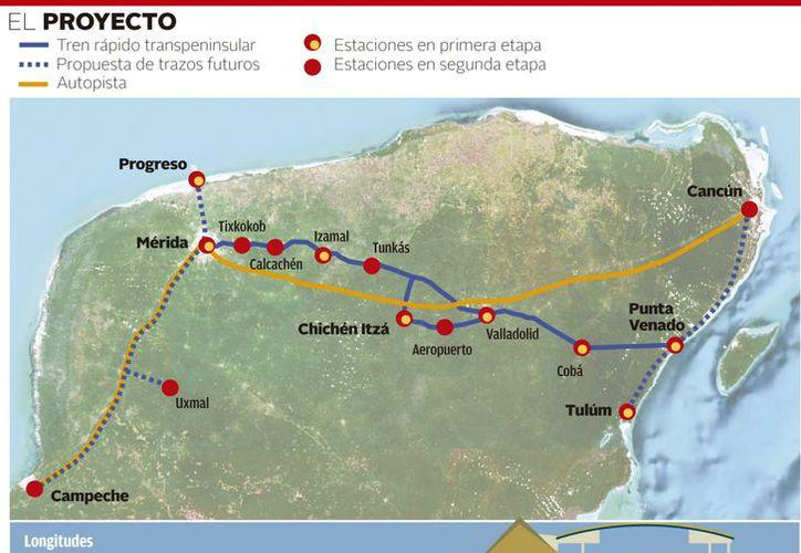 En el tren transpeninsular se invertirán 11 mil millones de pesos. (Milenio)