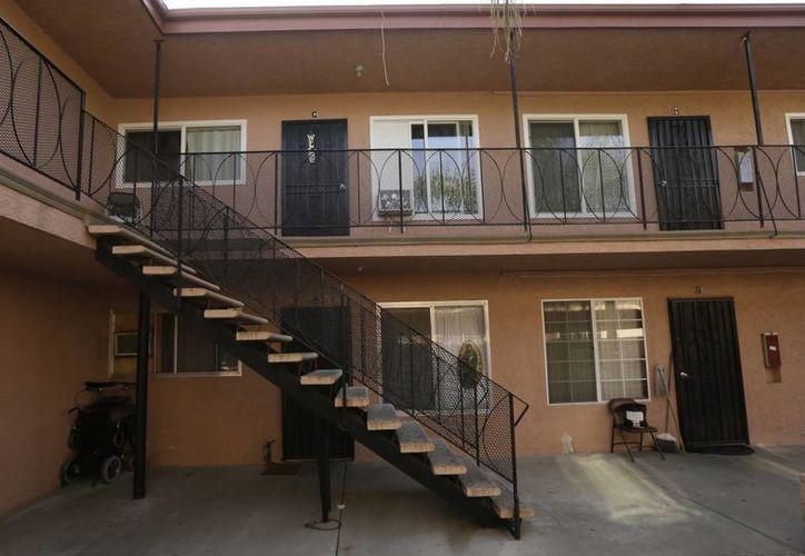 Conjunto habitacional en donde vivían Isidro García y su presunta víctima. (Agencias)