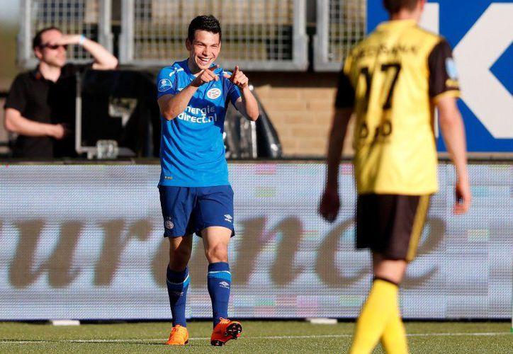 Lozano tiene contrato con el PSV hasta 2023, tras aportar 16 goles en 27 partidos. (Foto: Twitter)
