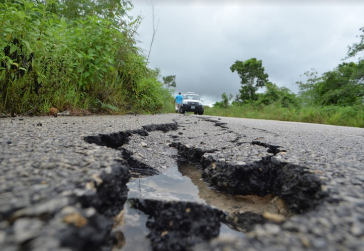 Los pobladores advierten que las grietas asemejan enormes serpientes que se confunden con una sombra. (Javier Ortiz/SIPSE)