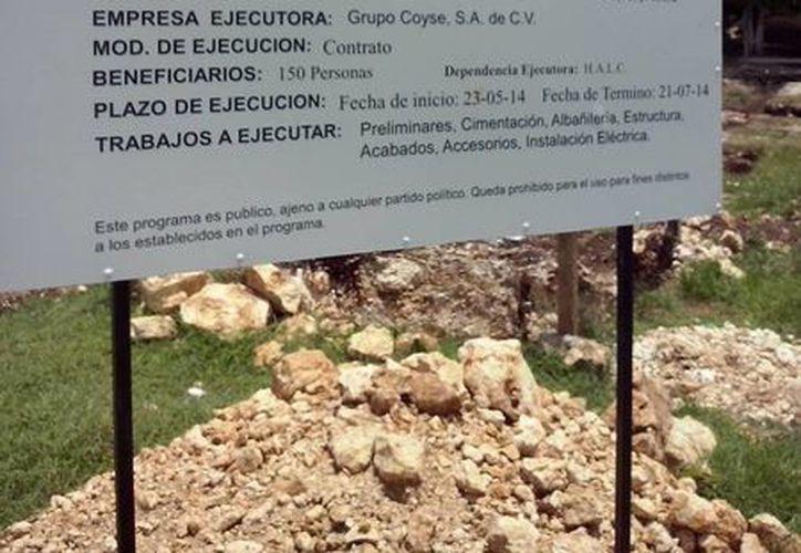 La cantidad anunciada al púbico no coincide con la del contrato. (Raúl Balam/SIPSE)