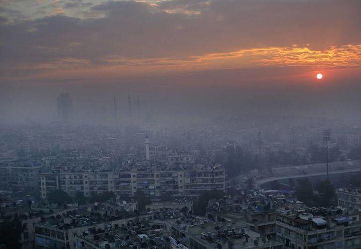 Imagen de la ciudad de Alepo, la cual fue llevada a la ruina por años de guerra. (AP/Hassan Ammar)