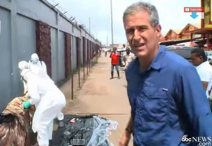 Richard Besser se encontraba filmando parte de un programa cuando captó lo sucedido. (YouTube)