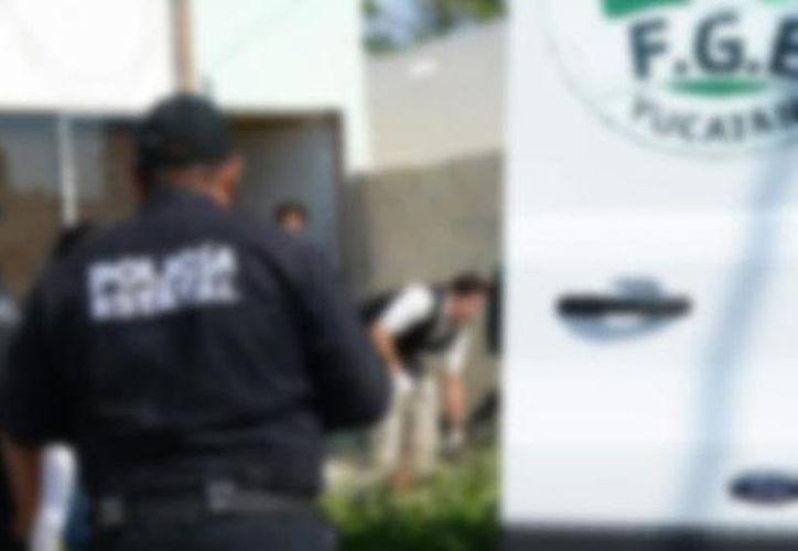 """Los hechos ocurrieron en un predio de la calle 23-J con 2-C, del fraccionamiento """"Los Robles"""", en Kanasín. (SIPSE)"""