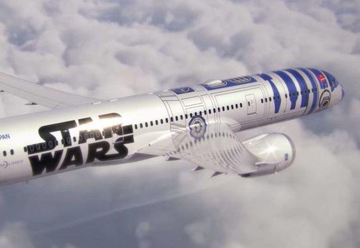 La aerolínea japonesa All Nippon Airways 'rotuló' 2 aviones con motivos de la saga del cine Star Wars. (Captura de pantall YouTube/ANAGlobalCH)