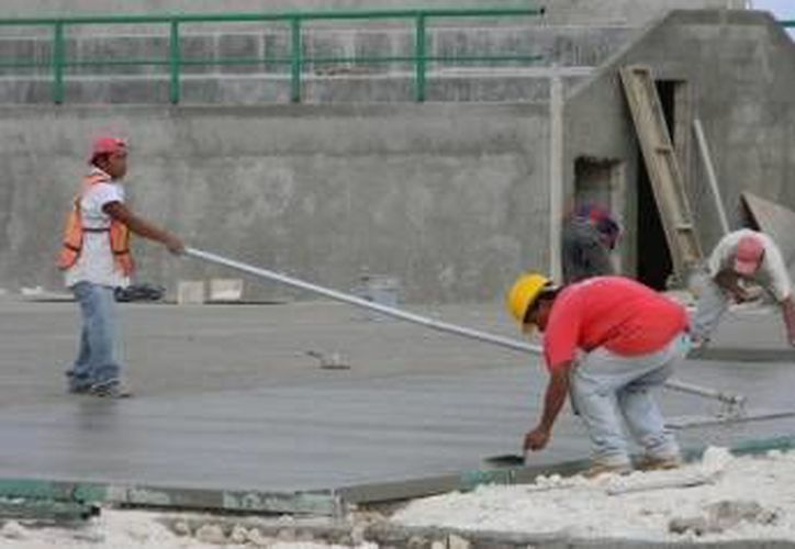 Las obras durante la construcción del Centro de Alto Rendimiento en Cancún. (Redacción/SIPSE)
