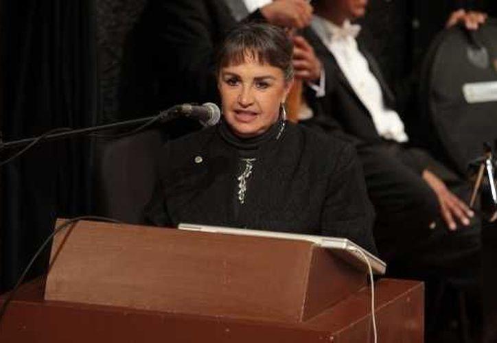 Yoloxóchitl Bustamante fue ratificada al frente del Instituto Politécnico Nacional para el periodo 2012-2015. (Notimex)