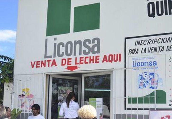 LA leche Liconsa, es adquirida de manera directa a productores de 15 estados como lo son Campeche, Chiapas, Oaxaca y Veracruz. (Harold Alcocer/SIPSE)