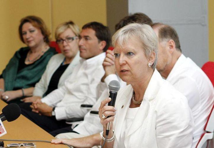 Marie-Anne Coninsx  subrayó los avances de Yucatán en la implementación del nuevo sistema de justicia. (Milenio Novedades)