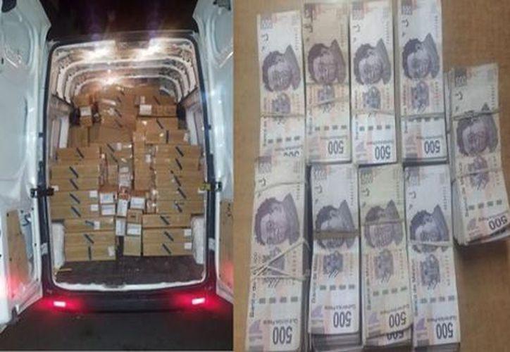El sujeto llevaba más de dos mil celulares en la camioneta, droga  y dinero en efectivo. (Foto: Milenio)