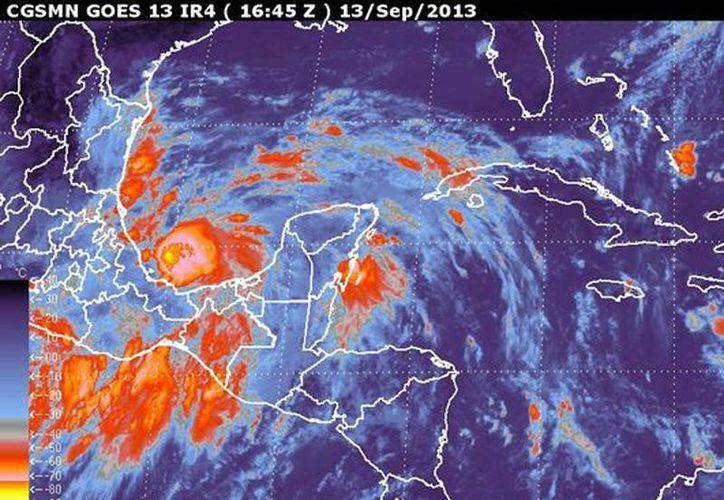 Ingrid se une a la tormenta tropical Humberto y a la depresión tropical Gabrielle. (Captura de pantalla smn.conagua.gob.mx)