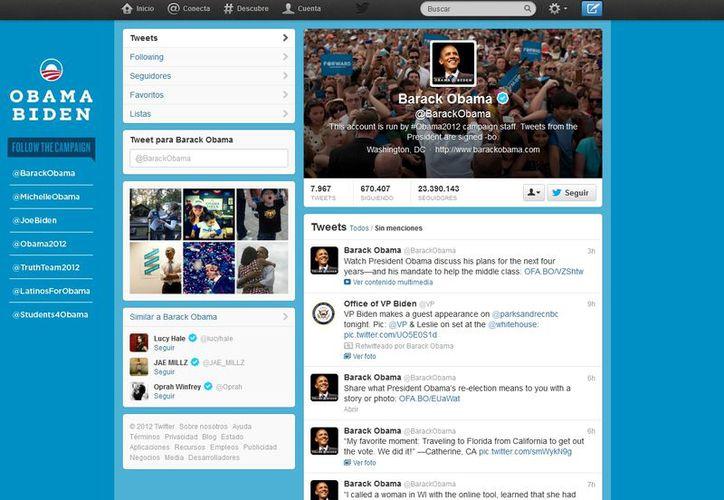 Barack Obama cuenta 23 millones 390 mil 143 seguidores.