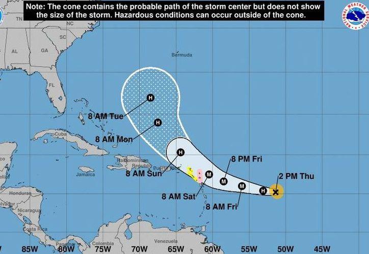 El huracán José se convierte en categoría 2. (NOAA).