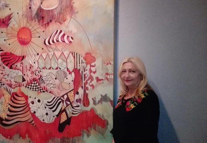 La pintora inaugurará su obra a las 21 horas este miércoles en el Peón Contreras. (Milenio Novedades)