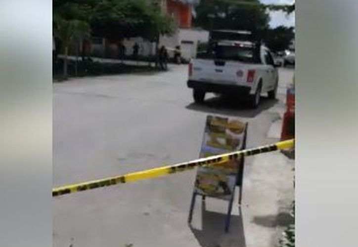 Dos personas resultaron lesionadas por arma de fuego. (Orville Peralta/ SIPSE)