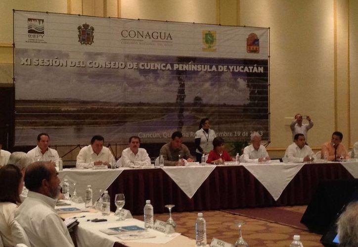 Sesión del Consejo de Cuenca Península de Yucatán, donde se habló del cuidado de los recursos hidráulicos de la región. (Cortesía)