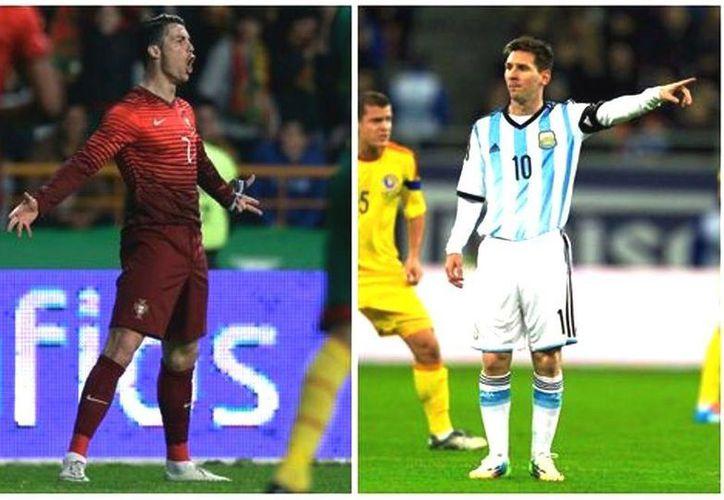 Cristiano Ronaldo y Leo Messi se medirán en el Mundial 2014, el duelo también será entre Nike y Adidas. (Agencias)