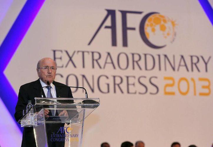 Blatter durante una conferencia en Kuala Lumpur. (Agencias)