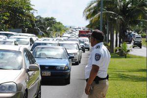 Manifestación de taxistas en la zona hotelera