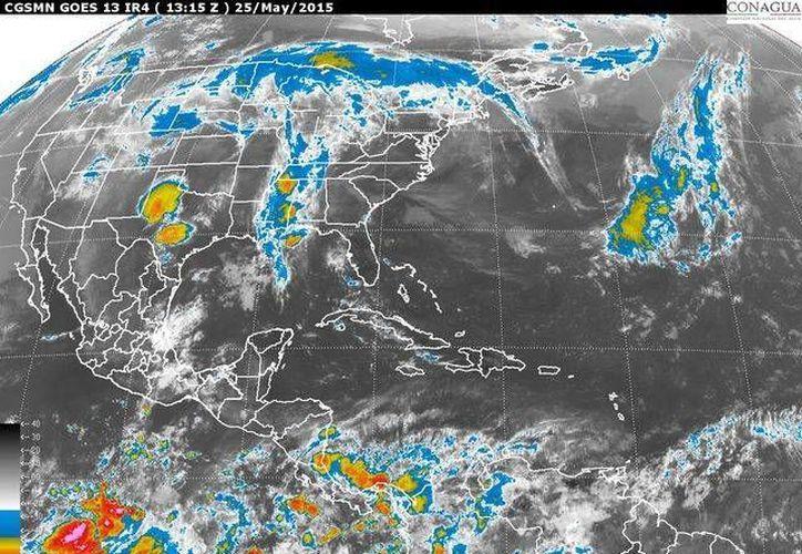 El pronóstico es de potencial de lluvias de menor intensidad en Campeche, Yucatán y Quintana Roo. (Redacción/SIPSE)