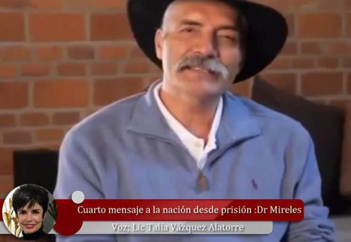 Mireles se encuentra preso en el penal de máxima seguridad de Hermosillo, Sonora, desde el pasado mes de junio. (Captura de pantalla/YouTube)