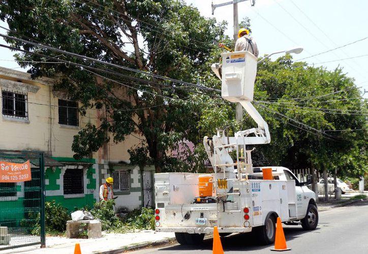 La CFE busca asegurar el suministro eléctrico en las colonias de mayor crecimiento de la ciudad. (Octavio Martínez/SIPSE)