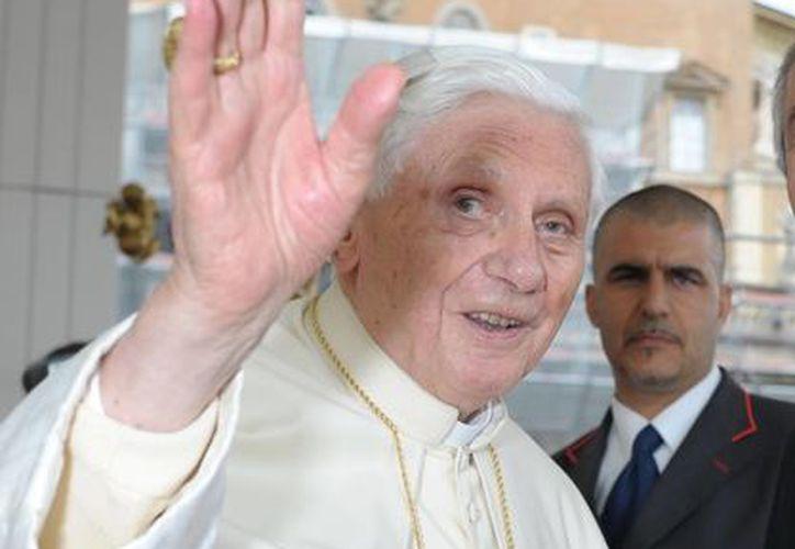 Joseph Ratzinger  dejará el cargo el 28 de febrero próximo. (Archivo/Notimex)