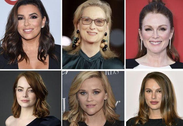 Personalidades mostraron su apoyo a la iniciativa Time's Up, en la 75 entrega de los Globos de Oro. (Contexto/ Internet)