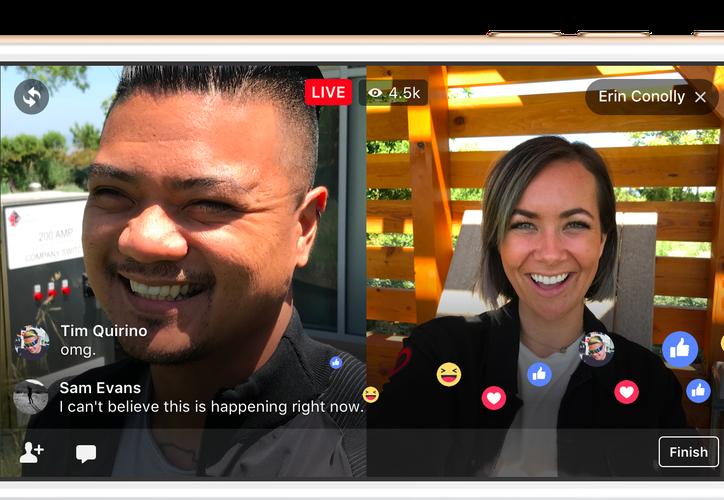 La nueva opción permitirá que personas que vivan en diferentes lugares inicien transmisiones en vivo compartidas. (Foto: Internet)