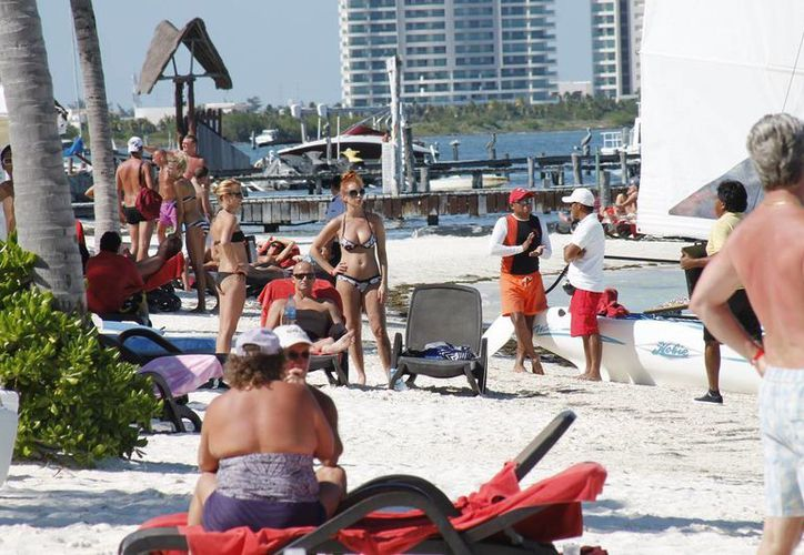Hoteles de la zona de playas registraron una ocupación del 85%. (Jesús Tijerina/SIPSE)