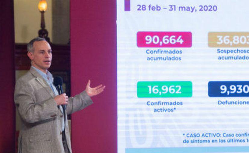 El Dr. Hugo López-Gatell, Subsecretario de Prevención y Promoción de la Salud, durante la conferencia diaria de la Ssa sobre la pandemia del COVID-19. (Foto: Twitter).