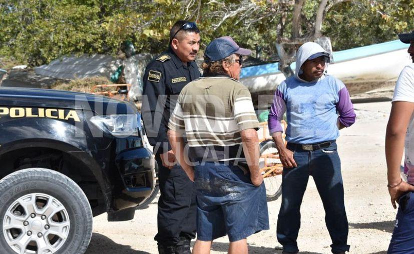 Los pescadores fueron encontrados varados por vecinos de Chuburná puerto y los ayudaron a llegar a la orilla. (Gerardo Keb)