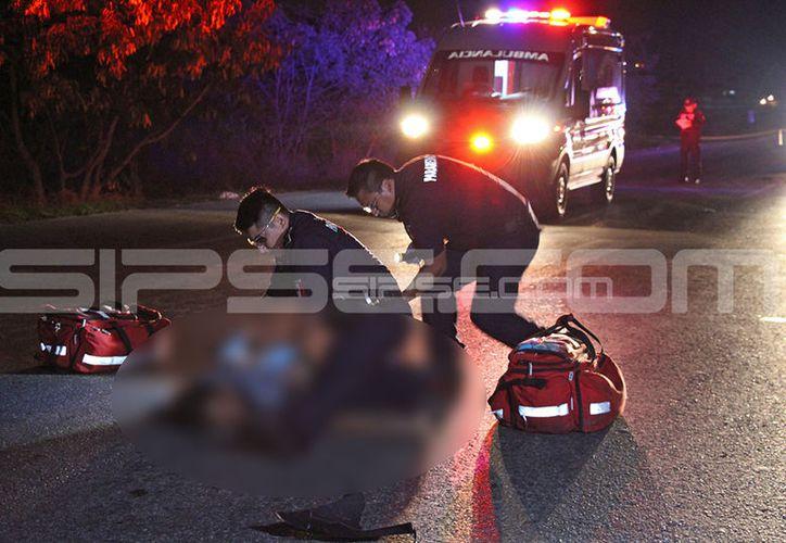 El señor perdió la vida al ser arrollado por un vehículo que después se dio a la fuga. (SIPSE)