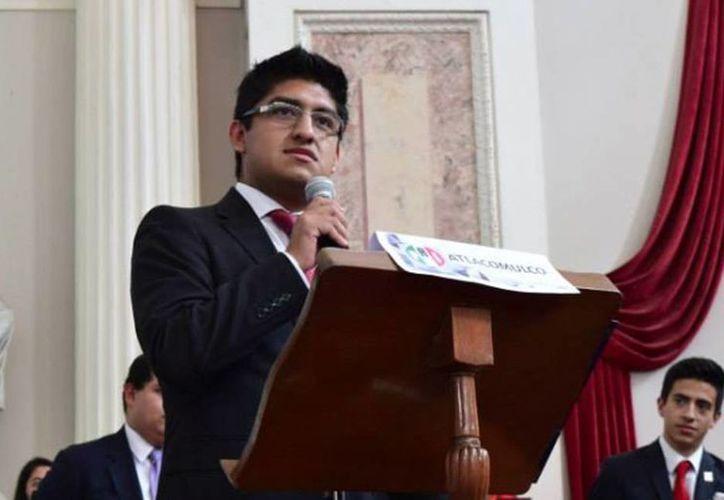 Imagen de Luis Adrián Ramírez Ortiz, líder de juventudes del PRI en Huixquilucan, quien pide el regreso de Gustavo Díaz Ordaz al poder. (SDP Noticias)