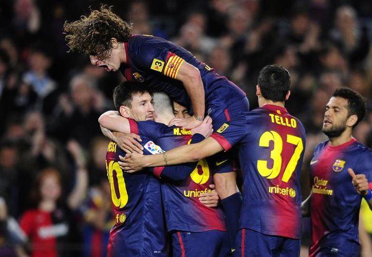 Barcelona llegó a 71 unidades en la Liga de España. (Foto: Agencias)