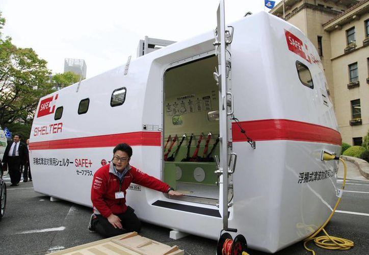 El albergue flotante fue diseñado originalmente para una empresa privada. (japantimes.co.jp)