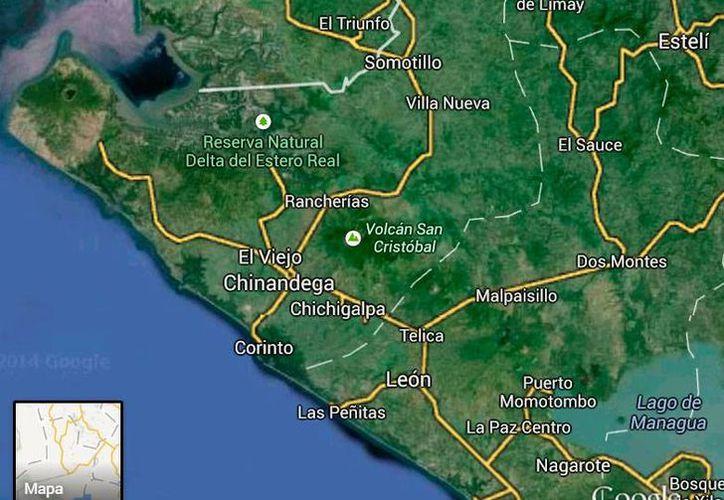 """La mina """"El Rincón de Los García"""" se encuentra en el municipio de Chinandega, al occidente de Managua, Nicaragua. (Google Maps)"""