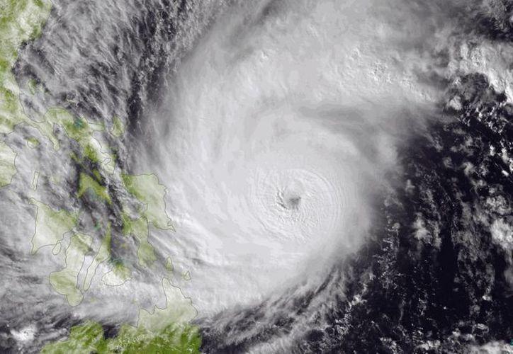 El tifón Hagupit, llamado Ruby por los filipinos, ha mantenido una trayectoria errática. (AP)
